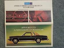 1979 FORD LTD LANDAU 2-DOOR SEDAN MINI BROCHURE FOLDOUT 4-DOOR SEDAN, COUNTRY SQ
