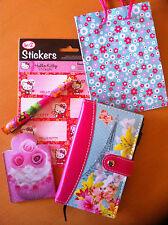 Hello Kitty Sticker  Schreibset Geschenk Set für Mädchen