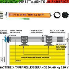 Motoriduttore Tubolare Elettrico 220 V 55 kg x Tapparella o Serranda Avvolgibile