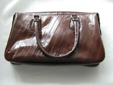 Genuine EEL Skin 2 Handle Burgundy/Ox Blood Handbag/Purse - EUC