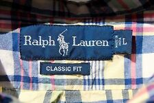 Ralph Lauren L Blue, Yellow, Magenta Madras Check Short Sleeve Shirt - India