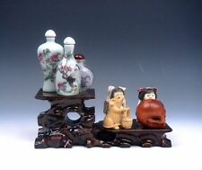 Wooden Crafted Large 2 Tiers Display Stand Easel For Netsuke Figs Teapot NEW