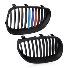 ///M Strip Front Bumper Kidney Grille Grill Glossy for BMW E60 E61 5 Series M5