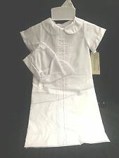 Alexis Unisex Christening Gown with Pintucks 9526 3mos