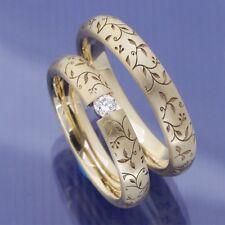 Schmale ausgefallene Eheringe Trauringe Hochzeitsringe aus 585 Apricotgold