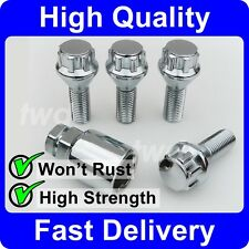 4 x ALLOY WHEEL LOCKING BOLTS FOR BMW 5-SERIES (M12x1.5) SECURITY LUG NUT [6H]