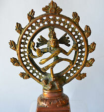 Nataraj Statue Brass Dancing Shiva Handmade Beautiful Exemplary 5.5""
