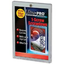 (25) Ultra Pro 1 Screw Screwdown Recessed 32pt Sports Card Holder No PVC