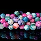"""8mm Natural Gemstone Multi Color Druzy Agate Faceted Round Beads Strand 15"""" -BA5"""