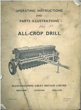 ALLIS-CHALMERS ALL CROP DRILL 157 OPERATORS & PARTS MANUAL GTC2B **ORIGINAL**