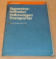 Werkstatthandbuch Reparaturleitfaden VW Transporter T3 4 Gang Schaltgetriebe 091