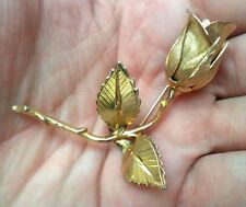 "STUNNING VINTAGE ESTATE SIGNED GIOVANNI FLOWER LEAF 2 1/4"" BROOCH!!! 4477H"