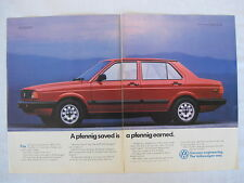 1989 Volkswagen Fox GL Sport Advertising 2 page Print Ad