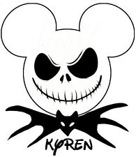 DISNEY Jack Skellington MICKEY MOUSE  PERSONALIZED  IRON ON TRANSFER
