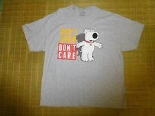 Family Guy Brian Griffin men Don't Care Short Sleeve Adult TShirt NWOT