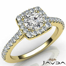 Round Diamond Shared Prong Set Engagement Ring GIA E VS1 18k Yellow Gold 1.22Ct