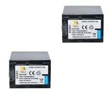 TWO 2X 5900mAH NP-FV100 Batteries for Sony DCR-SR58 DCR-SR68 DCR-SR78 DCR-SR88
