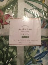 Pottery Barn Paradise King Duvet Multi Colors