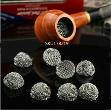 10 Pcs Tabacco Smoking Pipe Metal Screen Filter Percolator Leach Net Ball Silver