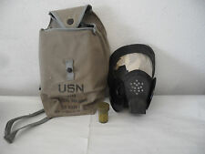 Vintage USN ND Mark V Gas Mask with Satchel and Antifogging Cloth