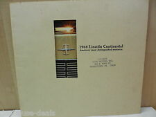 68, 1968 Lincoln Continental Unused Lincoln Dealer Brochure