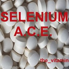 SELENIUM & Vitamins A C E.  120 Tablets    One or two per day       (L)