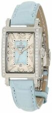 Gevril Women's 8247NE Super Mini Blue MOP Dial Diamond Date Leather Band Watch