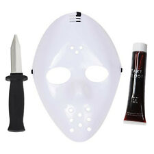 Friday 13th Jason - Halloween Hockey Mask, Fake Blood, Retractable Knife Set