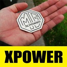 CHROME SILVER XPOWER MG BADGE - MGTF MGF F ZR ZS ZT ZTT ZT-T SOLID METAL 59MM