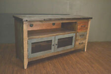 Industrial Rustic Reclaimed wood 62 inch TV stand Media Entertainment console