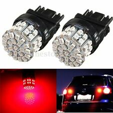 2x 3157 3156 Super Bright Red 50 SMD LED Bulb Signal Brake Tail Back Up Light