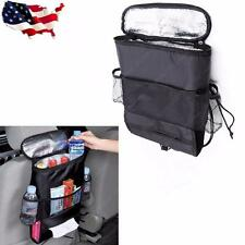 1pc Car Seat Back Multi-Pocket Insulation Storage Bag Holder Black