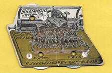 BLICKENSDERFER TYPEWRITER BASEBALL UMPIRE OFFICIAL SCORER GAME COUNTER AD PIECE