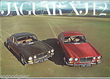 JAGUAR XJ12, 20 PAGE SALES BROCHURE + SPEC. SHEET