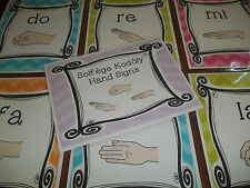9 Laminated Music Hand Sign Posters.  Full Page Classroom Charts.  8.5x11.   Mus