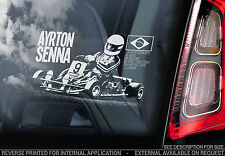 Ayrton Senna - Car Window Sticker - Karting Formula 1 Mclaren Lotus F1 - TYP6