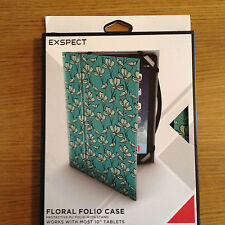 """NEW EXSPECT UNIversal 10 """" CASE TEAL FLORAL"""