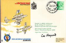 AD12 The Vintage Pair Air Display RAF flown Cover signed MAYNARD