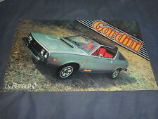 1979 Renault 17 Gordini Coupe USA Market Color Catalog Brochure Prospekt