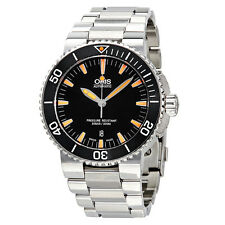 Oris Aquis Automatic Black Dial Stainless Steel Mens Watch 733-7653-4159MB