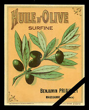 French Vintage Label: Huile D'Olive original lithograpy