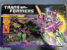 Transformers Vintage G1 Scorponok Boxed Just Missing 1 Gun & Instructions