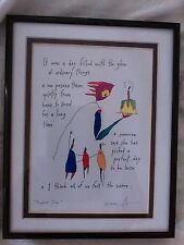 """Brian Andreas Story People print called """"Perfect Day"""" Signed"""