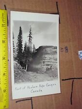 Hudson's Hope BC Canada RPPC Foot rock tourist people vacation Real Photo