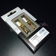Furutech FP201G Audio Grade Spade Terminals 24K Gold-Plated Y Lug Set of 4pc New