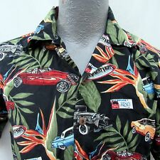 Hot August Nights 20th Anniversary Hot Rod Cars Hawaiian Aloha Shirt S/M 2006