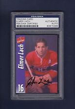 Elmer Lach signed Montreal Canadiens Molson Export hockey card Psa Authenticated