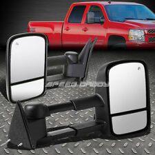 POWER+HEAT EXTENDABLE DUAL ARM REAR VIEW TOWING SIDE MIRROR FOR 88-00 CHEVY/GMC