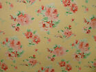 Designer Buttermilk 100%Cotton FLORAL Curtain/Upholstery/Soft Furnishing Fabric