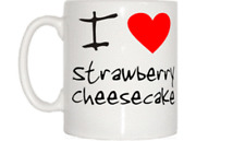 I Love Heart Strawberry Cheesecake Mug